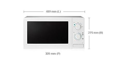 Samsung MW71B 20L 800W Blanco - Microondas (20 L, 800 W, Blanco ...