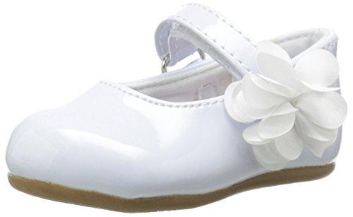 Baby Deer Girls' Patent Skimmer Mary Jane-K, White, 9 M US Toddler ()