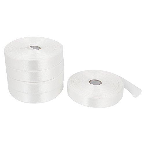 Matrimonio fai da te Imballaggio nastro rotolo di nastro 1,5 centimetri Larghezza 250 Yard 5PCS Bianco