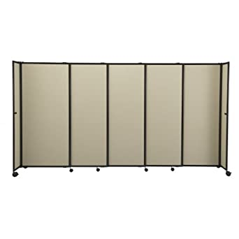 the sliding room divider 6u0027 h x - Portable Room Dividers