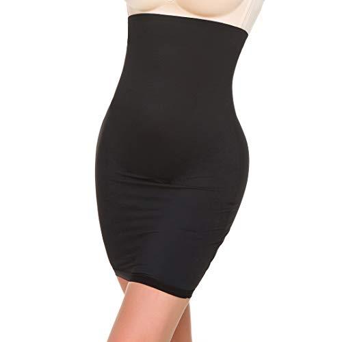 Shape Seamless (Women's High Waist Shaping Panty Slim Skirt Tummy Control Half Slip Shapewear Under Dresses (Black, Small))
