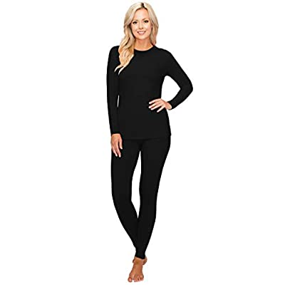 ALWAYS Women's Thermal Underwear Set - Fleece Lined Premium Soft Winter Warm Long Johns Base Layer Thermal Wear at Women's Clothing store