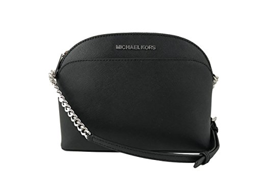 Michael Kors Emmy Saffiano Leather Medium Crossbody Bag in Black by Michael Kors