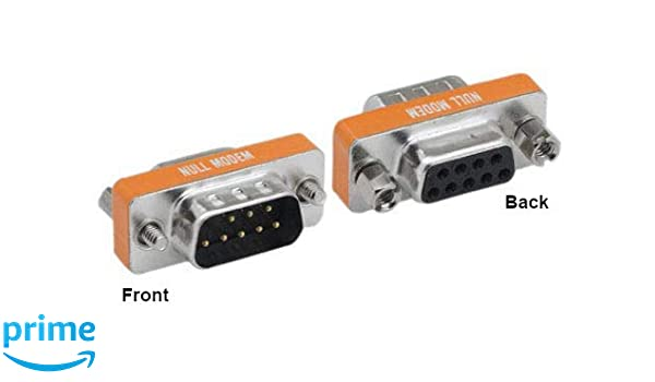 Mini DB9 Male 9-Pin to DB25 Female 25-Pin Serial Port Modem Adapter Connector