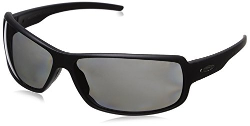 Suncloud Ricochet Polarized Sunglass with Polycarbonate Lens, Matte Black - Slim Face Sunglasses For