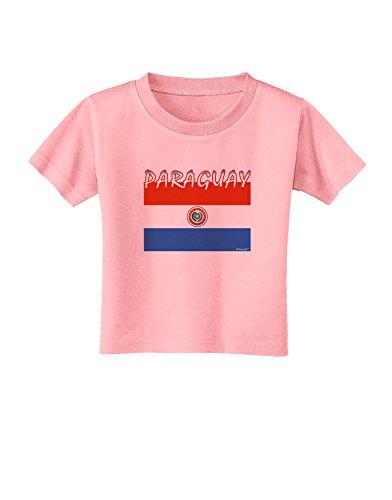 TooLoud Paraguay Flag Toddler T-Shirt - Candy Pink - 4T - Paraguay Flag T-shirt