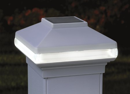 Solarband Post Cap, # 128980, Solar LED Deck Light, 4 Post, White by Generic