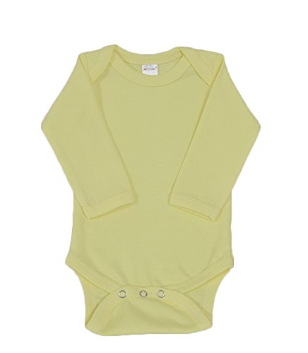 MONAG Unisex Baby Bodysuits (12-18M, Lemon) Yellow Long Sleeve Onesie