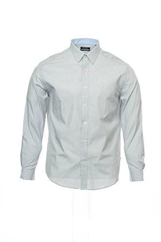 Fine Line Stripe French Cuff - Nautica Men's Classic Fit Cotton Dress Shirt, Fine Line Stripe, Grey (15.5 34/35)