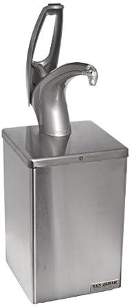 "San Jamar P4800 Stainless Steel FrontLine Countertop Box System, 7"" Width x 20-1/4"" Height x 7"" Depth, Metal Finish"