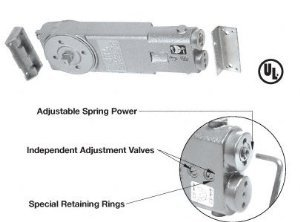 CRL Adjustable Spring Power 90 Degree No Hold Open Overhead Concealed Closer Body Only - CRL6762
