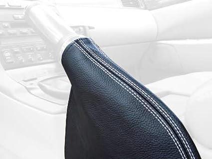 Black Alcantara-Silver Thread RedlineGoods ebrake Boot Compatible with Lexus SC 1992-00