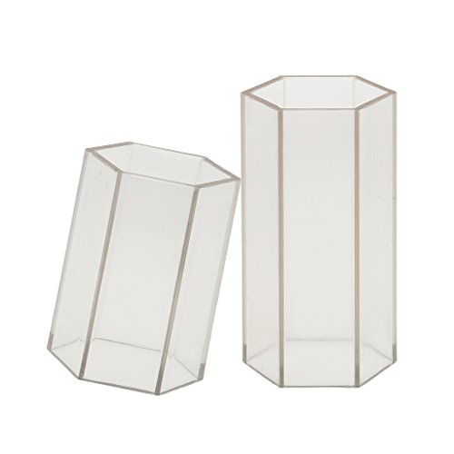Homyl 2 Pieces Candle Mold Plastic Candle Molds for Making Home Wedding Party Decoration Candles, 50x75mm ; 50x102mm Plastic Hexagon Mold ()