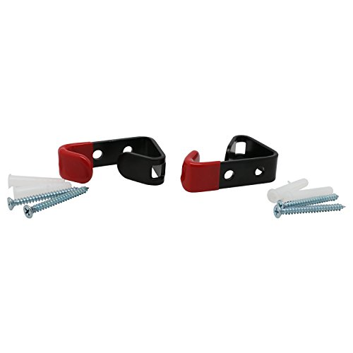 (Alloy Rim Display Hanging Hooks,Metal Wheel Hooks,Black and Red,Pack of 2 )
