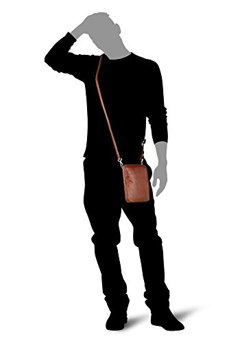 Picard Buddy bolso bandolera piel 16 cm Cognac (Braun)
