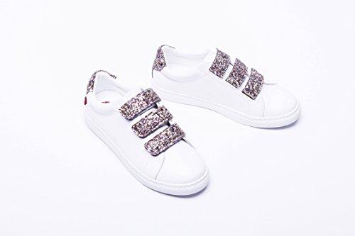Multico Paname Edith Bons baisers Glitter Sneakers Blanc de qxx1YB