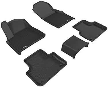 Gray Kagu Rubber 3D MAXpider Second Row Custom Fit All-Weather Floor Mat for Select Fiat 500X Models