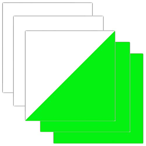 Glow in Dark HTV Sheets Iron-on Heat Transfer Vinyl for T-Shirts Apparel 12 Inches x 12 Inches Pack of 5 (Green)