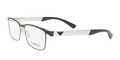 Emporio Armani EA1057 Eyeglass Frames 3161 - Matte Brown/Matte Gunmetal - Emporio Armani Frame Eyeglasses