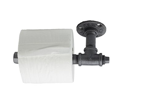 Y-Nut Industrial Vintage Toilet Paper Holder, Leon, Steampunk Toilet Paper Dispenser TPD-001