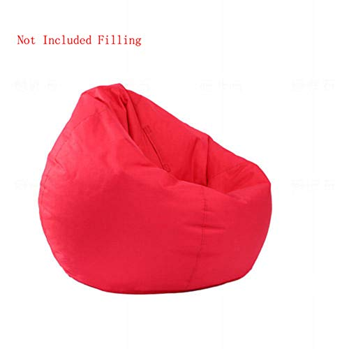 (IRRIS Waterproof Bean Bag Chair Large Storage Bean Bag Oxford Chair Cover for Kids, Teens and Adults Lounger Sack Material: Cloth. Machine Washable Removable Slip Cover.(Red))