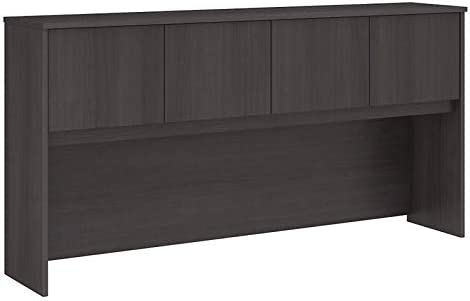 Scranton & Co Furniture 72W 4 Door Wood Hutch in Gray