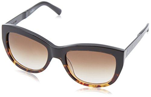 Bobbi Brown Women's The Grace Square Sunglasses, Black Tortoise Fade & Brown Gradient, 54 - Brown Sunglasses Bobbi