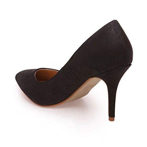 De Zapatos Modeuse Vestir Material La Negro Sintético Mujer WPEF4dTn