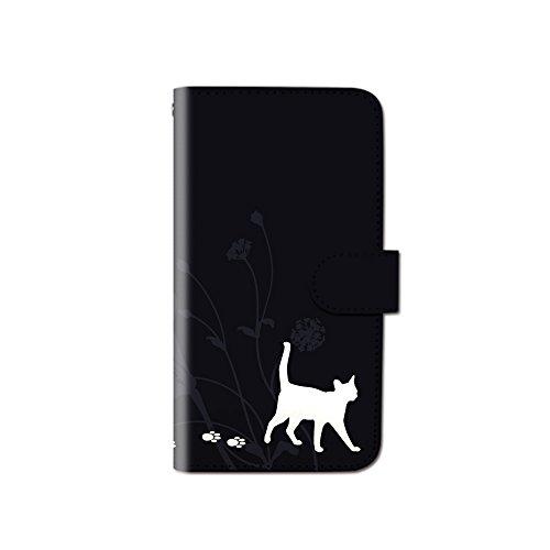 CANCER by CREE 手帳型 ケース iPhone8 (4.7) iPhone8 キャット猫 ねこ 肉球 あしあと スマホ カバー dy001-00011-02 iPhone8 (4.7インチ):M