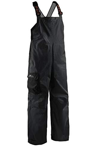 Gill Foul Weather - Grundéns Men's Weather Watch Fishing Bib Trousers, Black - Large