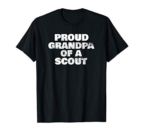 Proud Grandpa Of A Scout Funny Camp Hiking Gift T-Shirt