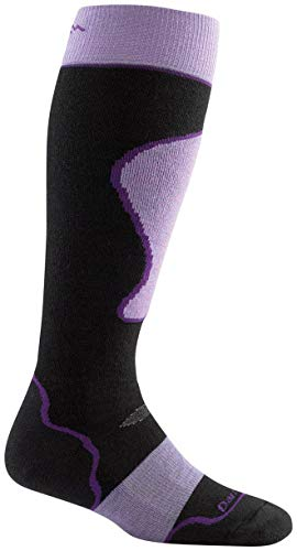 Darn Tough Merino Wool Alpine Ski Over-The-Calf Padded Cushion Sock - Women's Black Small