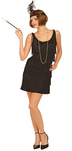 Forum Novelties Women's Flapper Costume Dress, Black, Medium/Large