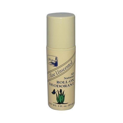 Alvera, Aloe Unscented, All Natural Roll-On Deodourant, 3 fl oz (89 ml) by Alvera