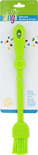 Silicone Basting Brush for Pastry, Bread, Grill, BBQ in Fun Zing! Colors (Lime Green) (Bread Of The Month Club)