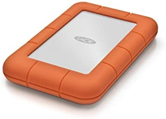LaCie LAC9000298 Rugged Mini 2TB External Hard Drive Portable HDD - USB 3.0 USB 2.0 Compatible, Drop Shock Dust Rain Resistant Shuttle Drive, For Mac And PC Computer Desktop Workstation PC Laptop