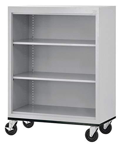 - 36' x 18' x 48' Elite Series Mobile Bookcase with 3 Shelves, Dove Gray