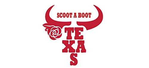 SCOOT A BOOT Country Cowboy Texas Decal Auto Laptop Wall Sticker