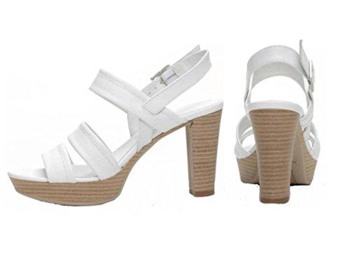 Nero Giardini - Sandalias de vestir de Piel para mujer Bianco