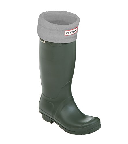 3 Ladies Rain Wellington 9 Grey Festival Wellies Tall Sizes UK Green Warm Boots Original Winter AdnxTpqXvw