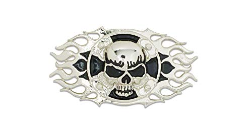 Tandy Leather Skull Cross Frame Cycle Concho 2