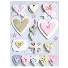 K & Company Brenda Walton Grand Adhesions Embellishments-Wedding Beaded Hearts