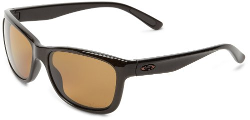 oakley forehand ladies polarized sunglasses  oakley women oo9179 08 brown sugar forehand wayfarer sunglasses polarised lens: amazon.co.uk: clothing