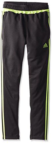 adidas Performance Youth Tiro 15 Training Pants, Black/Semi Solar Slime, X-Small