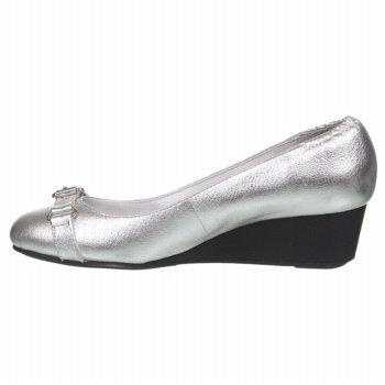 Lauren Ralph Lauren Womens Ilena Pump New Silver Leather yGcP09
