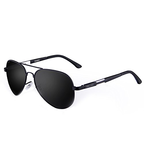 FEIDU Men Aviator Sunglasses Pilot Alloy Polarized Classic Sun Glasses Driving Sport With Case FD9001 - Good Looking Mens Glasses