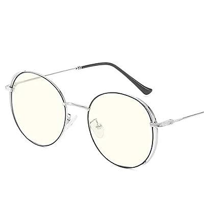 FeliciaJuan Adult Glasses The Metallic Blue Glasses General Computer Goggles Men and Women