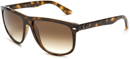 Ray-Ban RB4147 Boyfriend Square Sunglasses, Light Tortoise/Brown Gradient, 60 mm