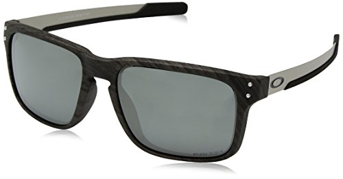 Oakley Men's OO9384 Holbrook Mix Rectangular Sunglasses, Woodgrain/Prizm Black, 57 ()