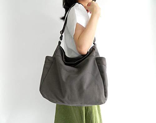 87c6f5a36cf8c Amazon.com: GRAY hobo diaper bag, Eco Mother vegan tote bag,Gift for ...